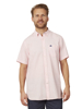 Raging Bull Short Sleeve Linen Shirt - Pink