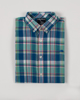Raging Bull Big & Tall Short Sleeve Madras Check Shirt - Mint