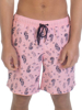 Raging Bull Pattern Swim Shorts - Pink