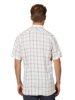 Raging Bull Big & Tall Short Sleeve Window Pane Shirt - White