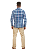 Raging Bull Big & Tall Long Sleeve Overcheck Oxford Shirt - Mid Blue