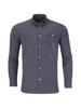 Raging Bull Long Sleeve Geometric Dobby Shirt - Navy